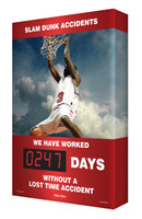 Safety Scoreboard for Outdoor use Digi Day Plus Basketball SCM318