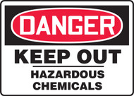 Danger - Keep Out Hazardous Chemicals