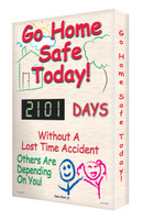 Digi Day 2 Electronic Safety Scoreboards- Go Home Safe Today SCG101