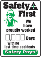 Write A Day Safety Scoreboard 20 x 14 Aluminum 1