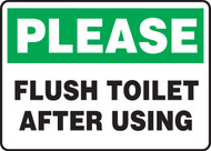 Please Flush Toilet After Using - Dura-Fiberglass - 10'' X 14''