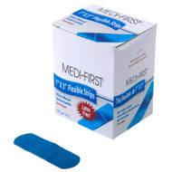 Blue Band aids metal detectable 1''x 3'' 100 per box