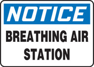 Notice - Breathing Air Station - .040 Aluminum - 10'' X 14''