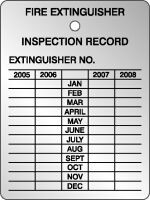 Fire Extinguisher Four Year Inspection Record- Aluminum