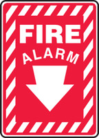 Fire Alarm (Arrow) - .040 Aluminum - 14'' X 10''