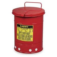 Oily Waste Can 10 Gallon Red w/ Hand Operated Cover