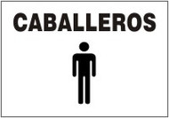 Caballeros (w/graphic)- Spanish Safety Sign