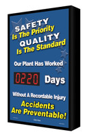 Digi Day Electronic Safety Scoreboard- Backlit- Safety is the Priority SCF220