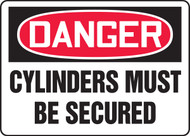 Danger - Cylinders Must Be Secured
