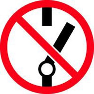 Do Not Throw Switch ISO Symbol
