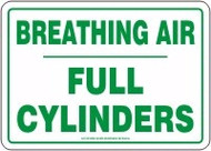 Breathing Air Full Cylinders Sign