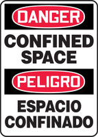 Danger - Confined Space Bilingual Sign