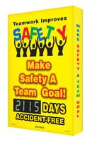 Digi Day 2 Electronic Safety Scoreboard- Teamwork Improves Safety SCG115