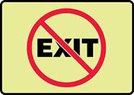 No Exit Glow Sign