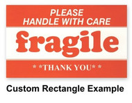 Custom Paper Label Rectangle 1-1/2 x 2