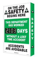 Digi Day 2 Electronic Safety Scoreboard- On The Job Safety Begins SCG103