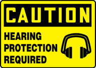 MPPA620XT Caution Hearing Protection Required Sign