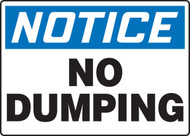 Notice - No Dumping