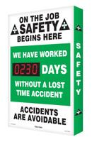 Safety Scoreboard- Digi Day- On The Job Safety | Accuform SCA230