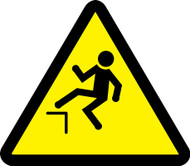 MISO310VS ISO Safety Sign- Step Off Hazard Sign