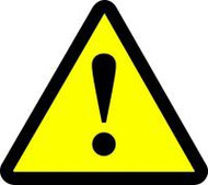 General Warning Hazard ISO Sign