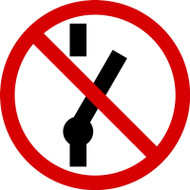 MISO516VA ISO prohibition safety sign- Do not throw switch sign