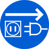 MISO126VA ISO Safety Sign- Unplug Electrical Supply Sign
