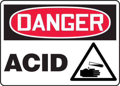 Acid Sign with triangle graphic