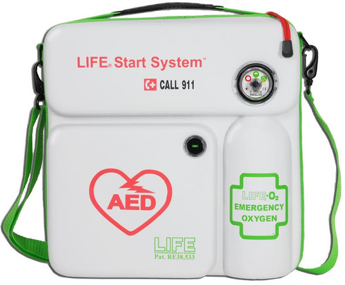 LIFE-02-LSS AED Cabinet and Emergency Oxygen in Portable Wall Case