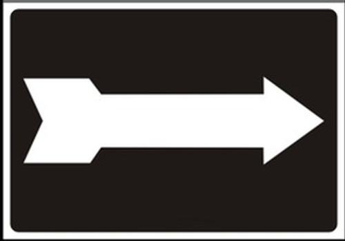 Arrow Sign White on Black