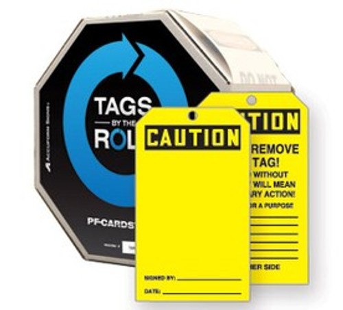 Blank Safety Tag- Safety Tags By The Roll- Yellow