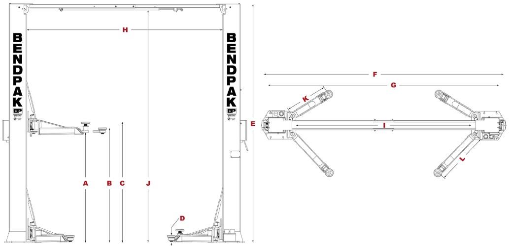 Bendpak XPR-10s Specs