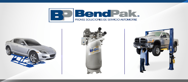 BendPak Car Lifts and Air Compressors