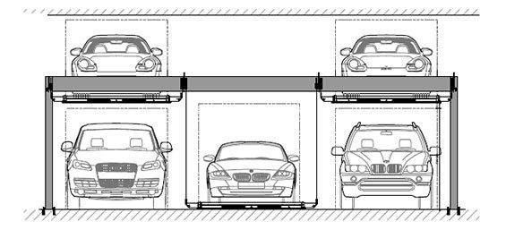 Bendpak PL-6KT 18,000-lb. Independent Platforms Triple Parking Lift