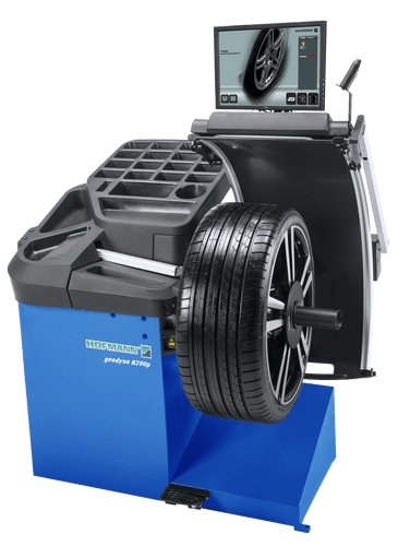 Hofmann Geodyna 8200 Wheel Balancer With Non Contact Data Entry And Diagnostic Functions