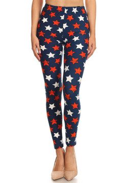 Super Stars USA Flag Leggings