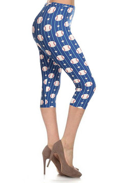 Baseball Plus Size Capris - LIMITED EDITION