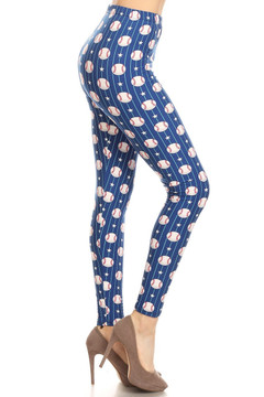 Baseball Plus Size Leggings - 3X-5X - LIMITED EDITION