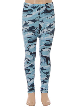 Brushed Love the Ocean Kids Leggings - LIMITED EDITION