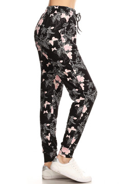 Brushed Pink Butterfly Joggers