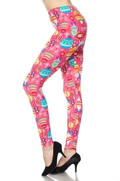 Brushed Pink Christmas Plus Size Leggings - 3X-5X