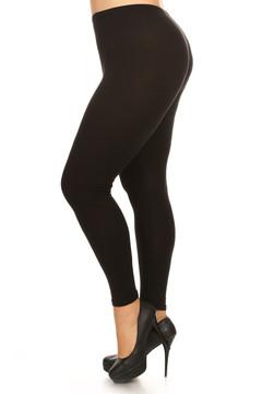 Brushed Basic Solid Leggings Plus Size - 3X-5X - New Mix