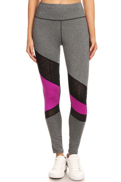 Premium Triangular Mesh Panel Workout Leggings