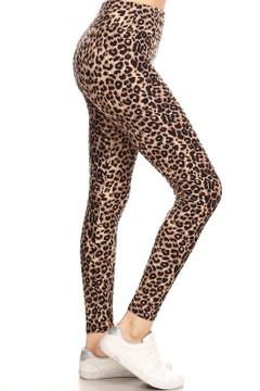 Brushed Cheetah Print High Waisted Leggings