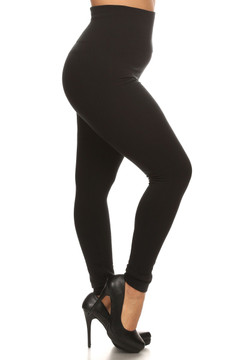 High Waisted Cotton Leggings Plus Size