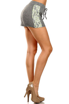 Heather Lace Sport Shorts