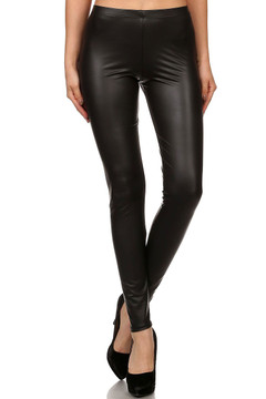 Matte Faux Leather Leggings