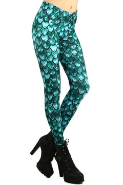 Green Scale Leggings