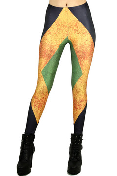 Definition Color Block Leggings - Plus Size