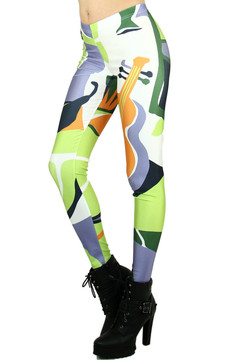 Musical Lime Leggings